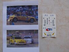 PEUGEOT 205 TURBO 16 RALLYCROSS 1990 JEAN MANUAL BELL DECALS VITESSE