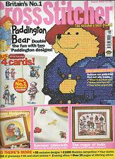 CROSS STITCHER MAGAZINE # 137 ALL OUR YESTERDAYS - PADDINGTON BEAR - HEDGEHOGS