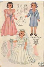 "1089 Vintage Slender Fashion Doll Pattern - Size 13.5"" - Year 1943"