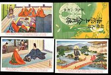 Japan JAPANESE FOLKLORE hand drawn 8 PPCs