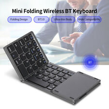 Ultra Slim Bluetooth Keyboard Touchpad Folding Triple For Windows/Android/IOS