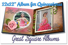 "Photoshop Quinceañera Templates PSD 12x12"" Album,DVD covers & Invitations"