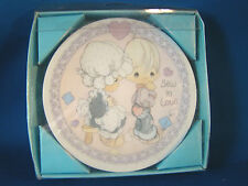 "Precious Moment Sew In Love Collector 4"" Plate @J"