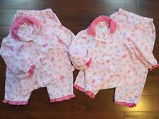 Pottery Barn Kids BARBIE Personalized Girl HANNAH Pink Pajamas 2 Sets Twin LOT 6