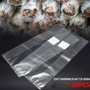 50x Pilzzucht Microfilter Beutel Pilzbeutel mit Impfport für Körnerbrut Neu DE