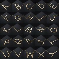 Fashion Stainless Steel Large Alphabet 26 Letter Pendant Necklace Jewelry Gift