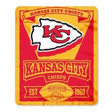 "New Northwest NFL Kansas City Chiefs Soft Fleece Throw Blanket 50"" X 60"""