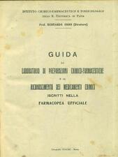 GUIDA AL LABORATORIO DI PREPARAZIONI CHIMICO-FARMACEUTICHE