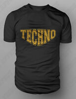 """TECHNO"" Detroit Acid House Minimal Club DJ EDM Rave T shirt M-XXL T-Shirt New"