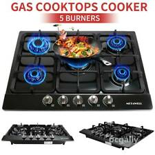 "TOP 27"" 5 Burner Gas Cooktop Stainless Steel NG/LPG Conversion Cook Top Stove"