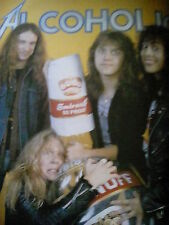 Metallica Alcoholica 1985 Cliff Burton Picture from Book Printed 2003 to Frame?