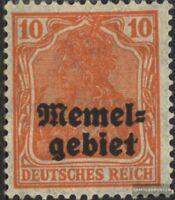 Memelgebiet 14 postfrisch 1920 Germania-Aufdruck