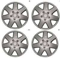 "14"" Car Wheel Trims Hub Caps Plastic Covers Set of 4 Silver Universal Tempest"