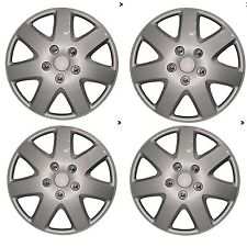 "16"" Universal Wheel Trim Hub Caps Car Van Trailer 4pc set Silver Plastic Tempest"