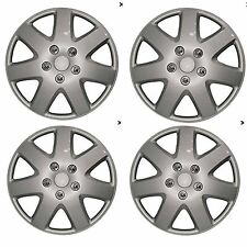 "13"" Universal Wheel Trim Hub Caps For Car Van Trailer 4pc set Silver ABS Plastic"