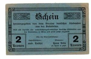 Aus064 Österreich, Verein dt. Studenten Bukowina 2 Kr