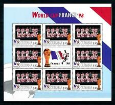 [101711] Guyana 1998 World cup football France team Croatia Sheet MNH