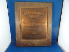 Vintage Standard Oil Award Plaque L C Scothorn Burlington KY With a 1928 Date