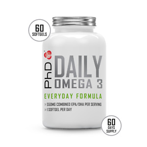 PHD Nutrition Daily Omega 3 Capsules - 180 caps