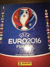PANINI UEFA EURO 2016 FRANCE STICKER  ALBUM PART COMPLETE