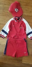 Mlb St. Louis Cardinals Jacket and shorts with hat Sz 12M Vgc