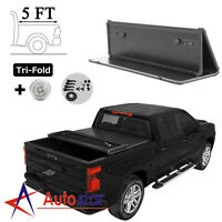 """Hard Tri-Fold Tonneau Cover For 2019 2020 2021 Ford Ranger 5ft Truck Bed 61"""""""