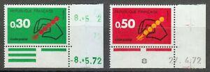 France 1972 MNH Mi 1795-1796 Sc 1345-1346 Introduction of postal code system 01