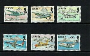 Jersey: 1997, Aviation (6th issue), 60th Anniversary Jersey Airport, MNH set.
