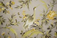 "Fabricut Drapery Upholstery Kiersten Gray Garden Fabric Cotton Bedding DWR 54""W"
