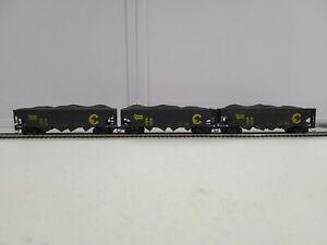 6 HO 4 Bay Hoppers. 3 Chessie System & 3 B&O