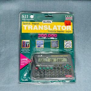 Seiko Instruments Berlitz Spanish English Translator SII EZ-Learn TR2050 NEW