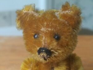 Antique vintage 1930s miniature mohair Schuco Teddy Bear Germany 3in GUC