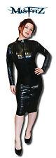 Misfitz black pvc zip pencil mistress dress, size 20. goth pin up TV