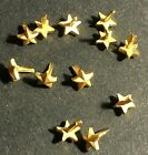 """Lot of 12 Gold Stars ribbon/medal attachments gold surface 3/16"""" Mil. Surplus"""