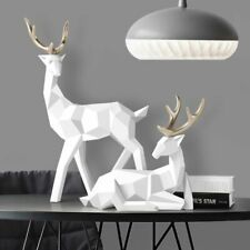 Deer Sculpture Resin Deer Statue Nordic Decoration Home Decor Statues Deer Table
