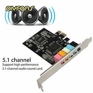 PCI Express x1 PCI-E 5.1CH CMI8738-Chipsatz-Audio-Soundkarte mit CD-Treiber