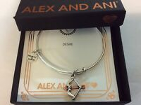 Alex and Ani Cupid's Arrow Two-Tone Bangle Bracelet Rafaelian Silver NWTBC