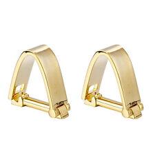 New 18k Gold Plated Men's Wedding Dress Gift Buckle Cufflinks Cuff Links