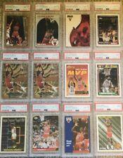 Lot of 12 PSA Graded Michael Jordan Cards 2 PSA 9 10 PSA 8 Resell Incl 2 Metal
