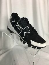 Men's 6.5 Baseball Under Armour Low Cut Cleats Black and White
