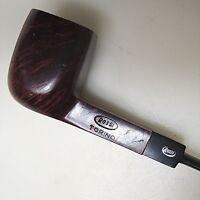 Klassiker Bruyere Pfeife ROSSI TORINO Italy beraucht ca. 15 cm nummeriert