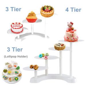 3/4 Tier Cake Stand Cupcake Wedding Birthday Party Dessert Display Holder   AU