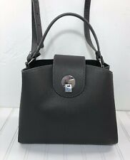 Zara Handbag Gray Metal Closure Satchel
