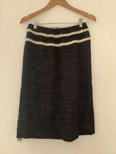 Ladies knit Skirt M/12 Marako Italian Black Casual Acrylic <JS4163