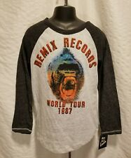 New Art Class Boys 3/4 Sleeve Gorilla Print T-Shirt Medium 8/10 White & Gray