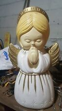 """Blowmold Outdoor Lighted Angel 18"""" Tall 3 Total"""