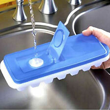 Ice Cube Tray With Removable Lid, Bpa Free,Blue