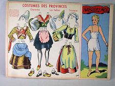 IMAGERIE ANCIENNE à découper, COSTUMES DES PROVINCES, Charente, HABILLEZ MOI
