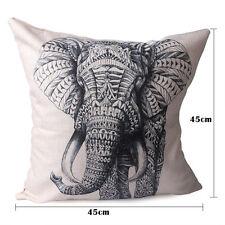 Home Decor Elephant Shape Cotton Linen Pillow Case Sofa Throw Cushion Cover