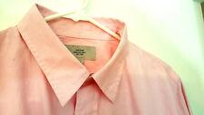 Jack Spade Mens L/slv dress Shirt L  Pink/white fine striped 100% Cotton NWOT